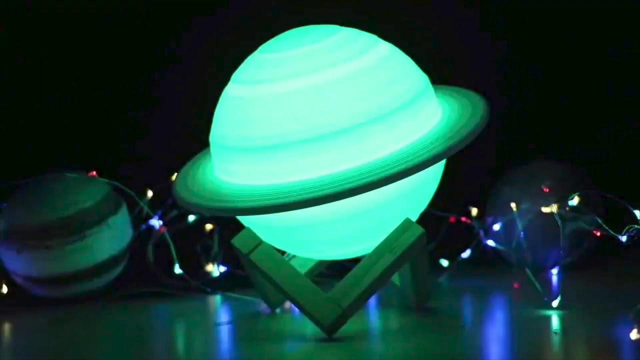Saturn 3D Lamp | Wyvern's Hoard