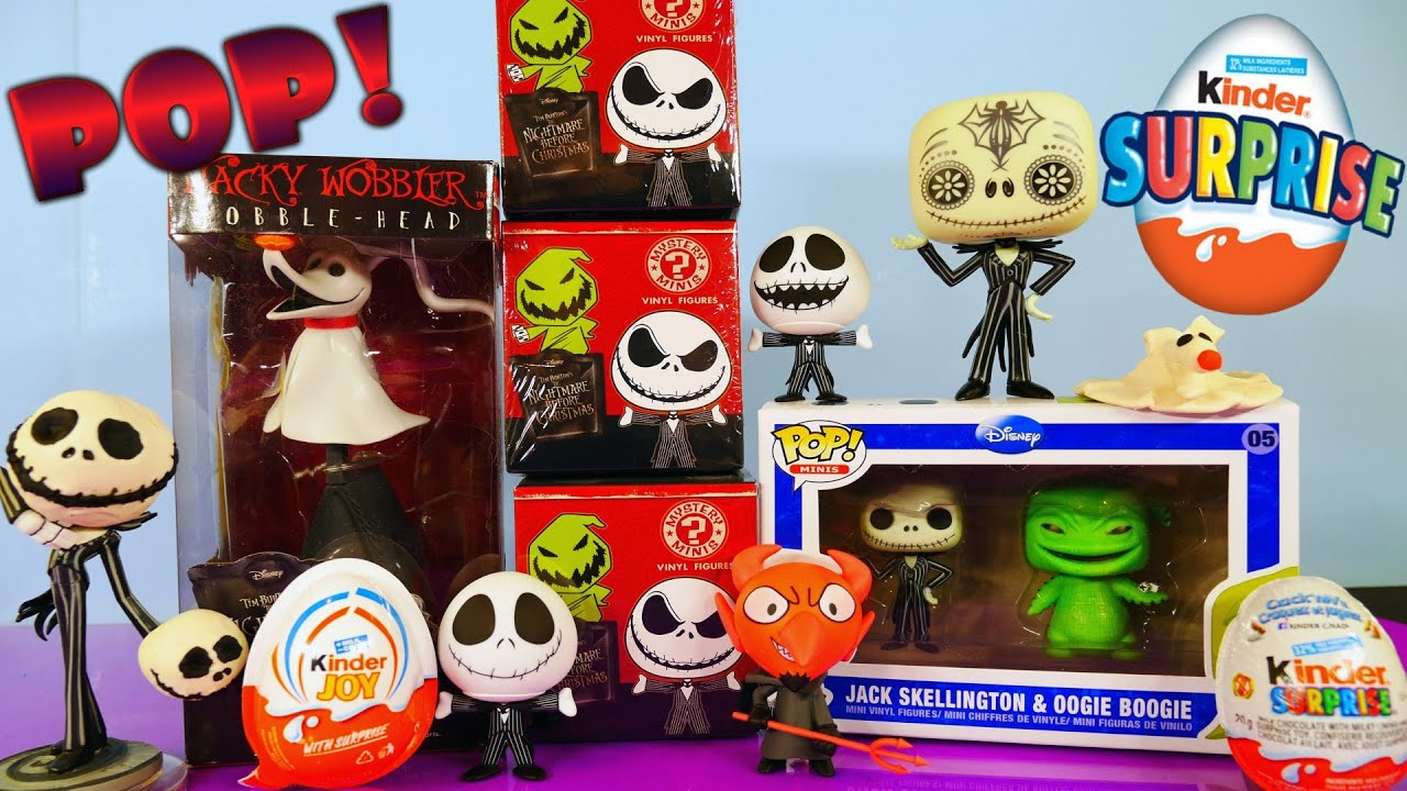 Funko Pop The Nightmare Before Christmas Toys Unboxing + Kinder ...