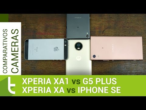 Xperia XA1, Xperia XA, Moto G5 Plus, IPhone SE | Comparativo De Câmeras TudoCelular