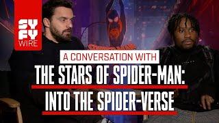 Having A Spider-Ham Is Wild! Jake Johnson And Shameik Moore Enter The Spider-Verse   SYFY WIRE