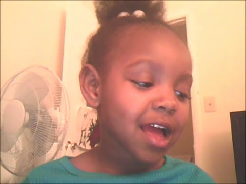 4 year old Skye singing Lenny Williams 'Cause I Love You'