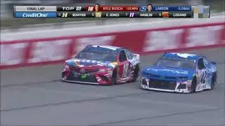 2018 Overton's 400 Finish But the NBC Commentators are on Helium