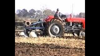 OLD TRACTORS PLOUGHING.1998.