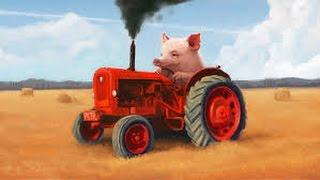 Как завести трактор. Как ехать на тракторе. Уроки езды мтз 82. 892.