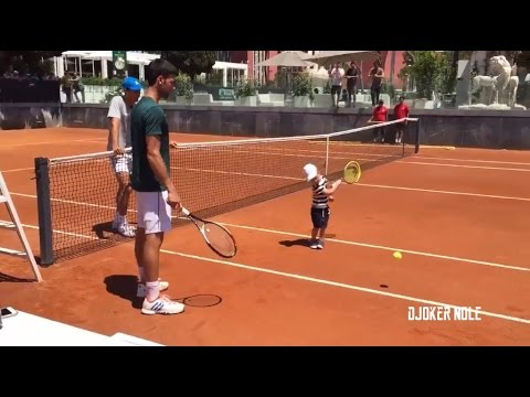 Thumbnail: Novak Djokovic Plays Tennis with His Son Stefan - Rome 2017 (HD)