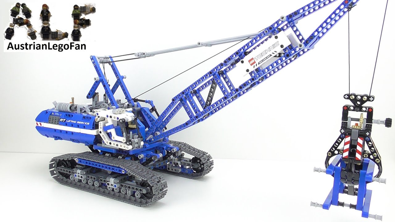 lego technic 42042 crawler crane seilbagger lego speed. Black Bedroom Furniture Sets. Home Design Ideas