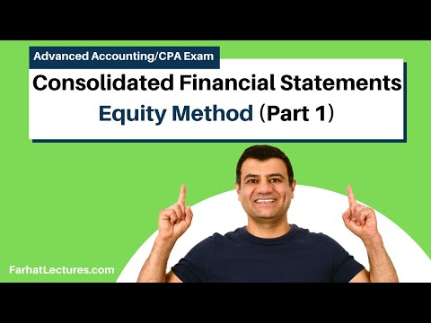 Equity method consolidated financial statements advanced accounting CPA exam FAR ch 4 p 5