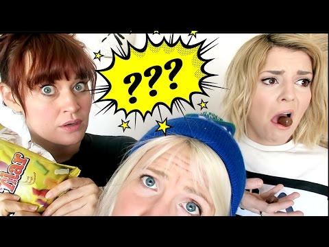 TASTING WEIRD ICELANDIC CANDY || ft. Grace Helbig & Mamrie Hart!