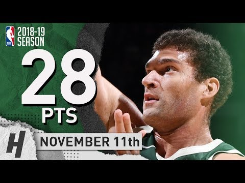 Brook Lopez Full Highlights Bucks vs Nuggets 2018.11.11 - 28 Pts, 8 THREES!