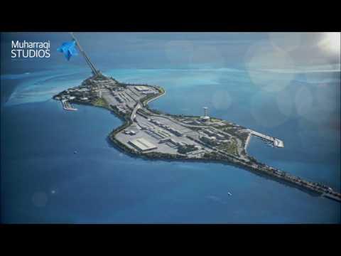 Saudi and Bahrain King Fahd Causeway upgrade animation