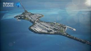 Saudi-Arabien und Bahrain King Fahd Causeway upgrade-animation