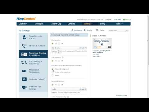 RingCentral Call Screening, Greeting and Hold Music Overview