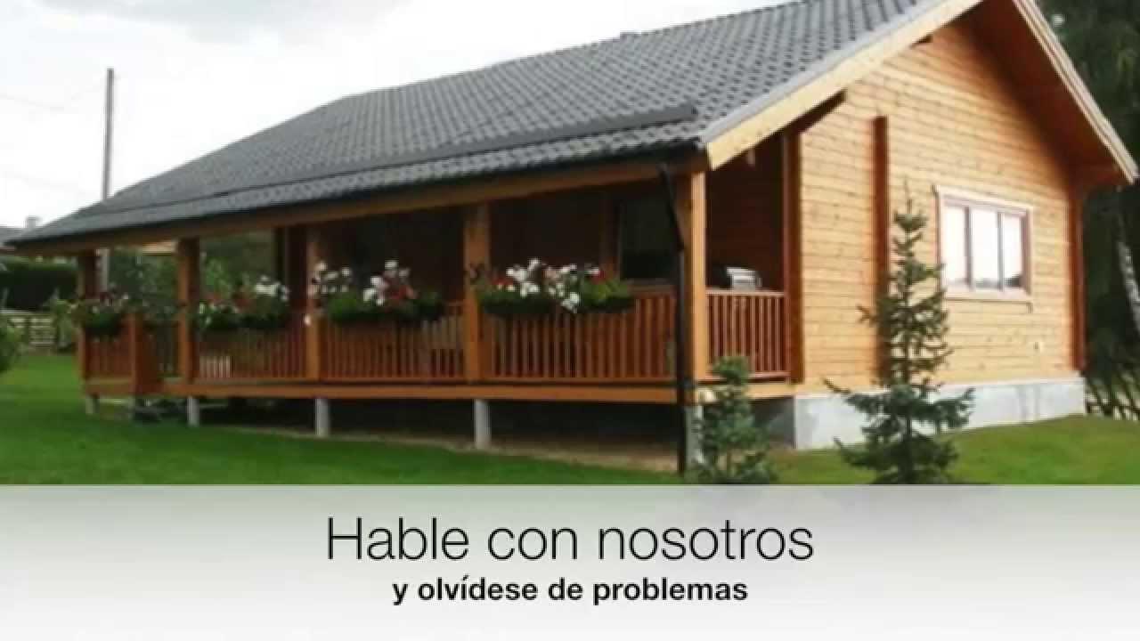 Casas prefabricadas en Zamora - Casas de madera - baratas - YouTube