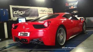Reprogrammation Moteur Ferrari 458 Italia @ 533cv Digiservices Paris 77183 Dyno
