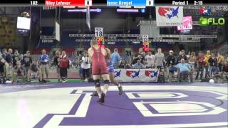 Junior 182 - Riley Lefever (Indiana) vs. Isaac Rangel (California)