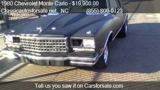 1980 Chevrolet Monte Carlo - for sale in Raleigh, NC 27603 #VNclassics