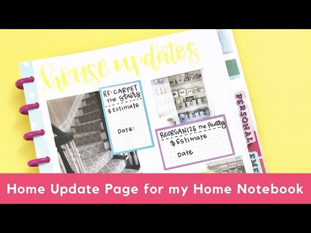 home-updates-page-for-my-home-notebook