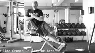 Side Crunch On Incline Bench Youtube
