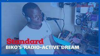 Residents of Mbita shower form 3 student with praises after he created FM Radio station from scratch
