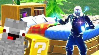 Alphastein in Fortnite Lucky Block Bedwars gegen Rewinside