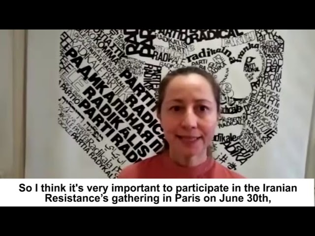 Elisabetta Zamparutti's solidarity message for 'Free Iran' gathering