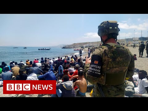 Migrants reach Spain's Ceuta enclave in record numbers – BBC News