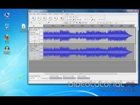 Cum scoatem sau estompam vocea dintr-o melodie mp3 cu Audacity.mp4