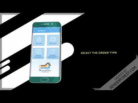 How Water at Door App Work. Ordering Mineral Water Jar from mobile App