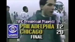 Bears vs. Eagles - Fog Bowl broadcast highlights (12/31/88)