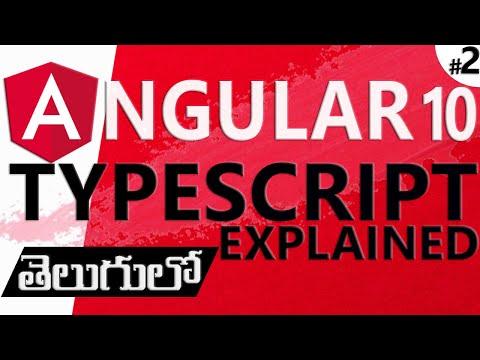 ANGULAR IN TELUGU   TypeScript Explanation thumbnail