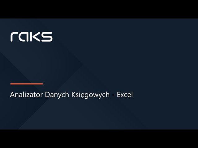 Analizator danych księgowych Excel dla programu RAKS