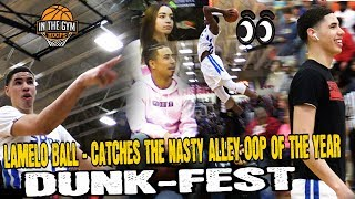 Lamelo Ball Catches Nastiest Alley OOP Dunk In Front of Julian Newman
