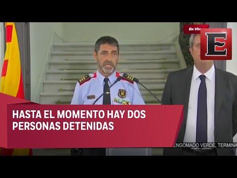 Conferencia de prensa sobre el atentado en Catalunya