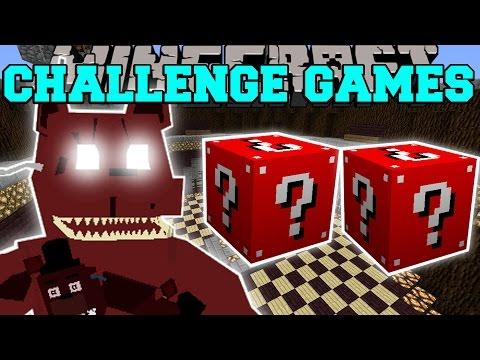 Minecraft: NIGHTMARE FREDDY CHALLENGE GAMES - Lucky Block Mod - Modded Mini-Game