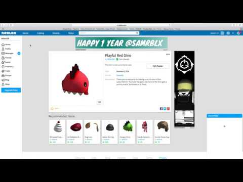 New Playful Red Dino Body Roblox How To Get A Playful Red Dino Hat For Free Roblox Youtube
