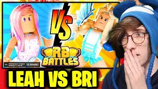 🔴 LEAH ASHE vs BRIANNAPLAYZ!! (LIVE REACTION) | ⚔️ Roblox RB Battles Championship | 1 Million Robux