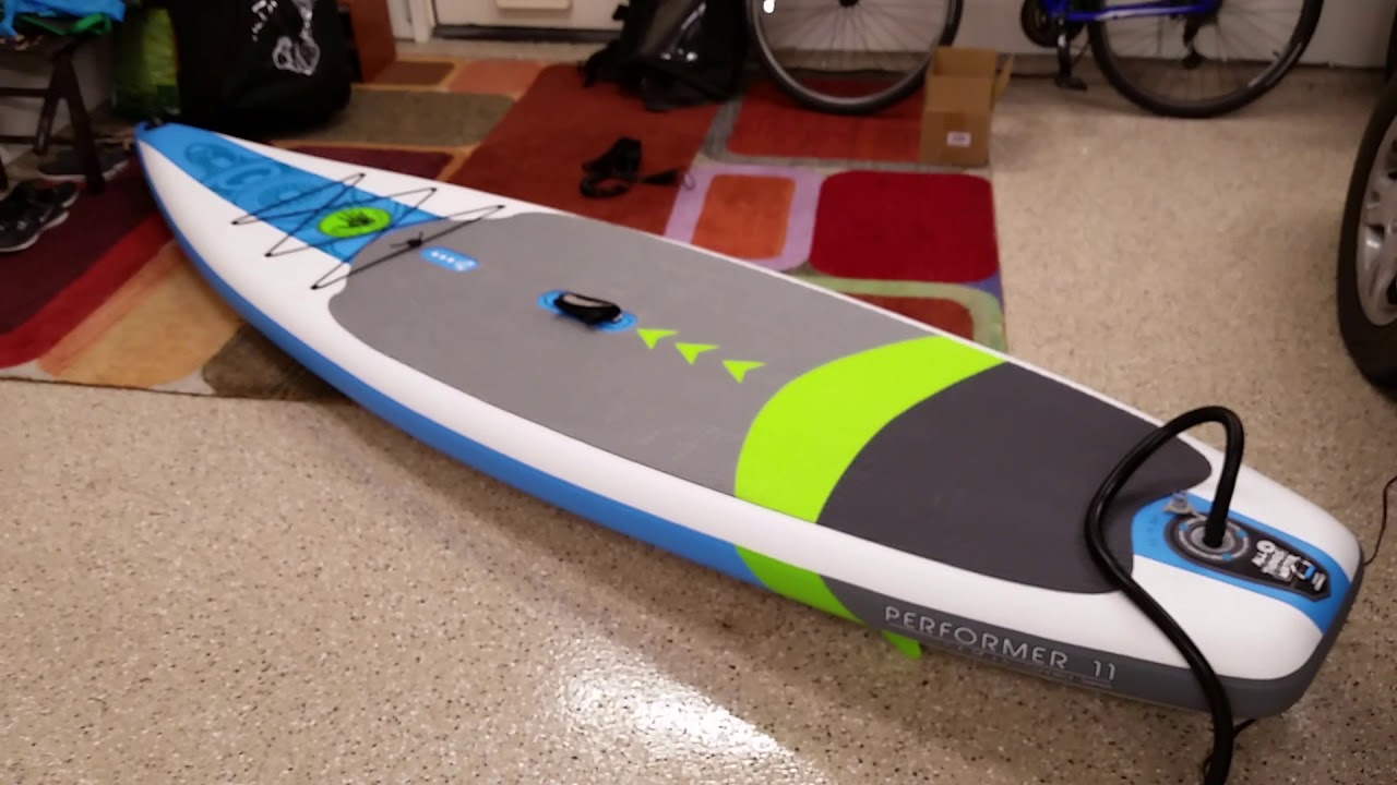Inflating Body Glove Performer 11 Inflatable Paddle Board with Seamax SUP  Pump