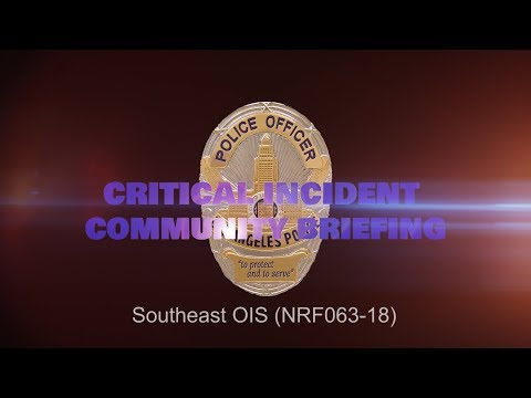 Critical Incident Video Release - NRF063-18 SOE OIS
