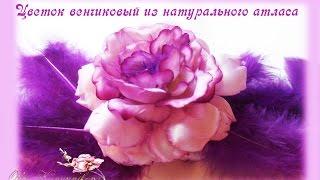 Цветок венчиковый из натурального атласа(Видео о рукоделии: мастер класс: Цветок венчиковый из натурального атласа Выкройка: http://vk.com/okanunnikova?z=photo62696365_..., 2015-10-19T12:01:54.000Z)