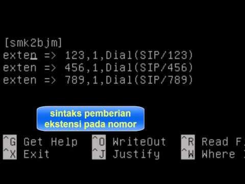 Tutorial Konfigurasi Asterisk Sebagai Server VoIP di Debian 8 Menggunakan VirtualBox