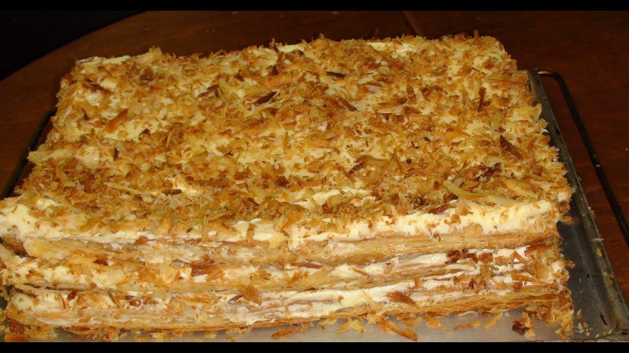 Napoleon Tortunun Hazirlanmasi Napoleon Cake Preparation Youtube