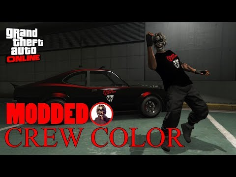 GTA 5 ONLINE: HOW TO CREATE MODDED CREW COLOR(BLACK) IN GTA ONLINE
