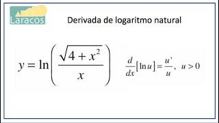 Derivadas: Logaritmo Natural