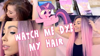 Watch Me Dye My Hair |  Purple to Pink Ombre