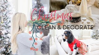 CHRISTMAS CLEAN AND DECORATE WITH ME | FAMILY ROOM CHRISTMAS DECOR