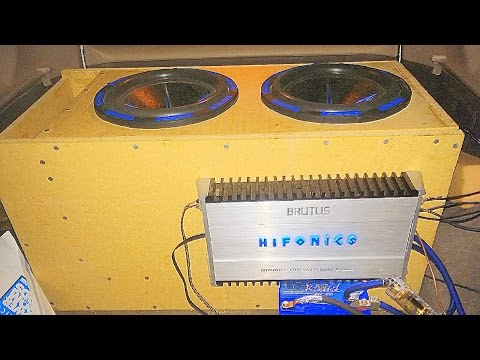 2 Mofo 12s Flex Tuned Super Low 20 Hertz By Accidant Hifonics Brutus 1700.1