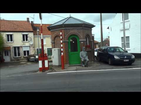 The French - Belgian border at Oost Cappel - Alveringem