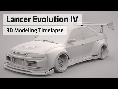 Modelling Timelapse - Custom WIdebody Lancer Evo IV