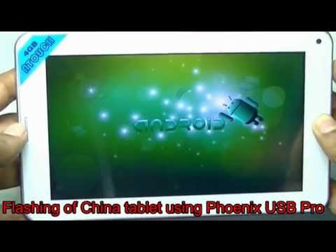 Install Android On China Tablet Using PheonixUSBpro
