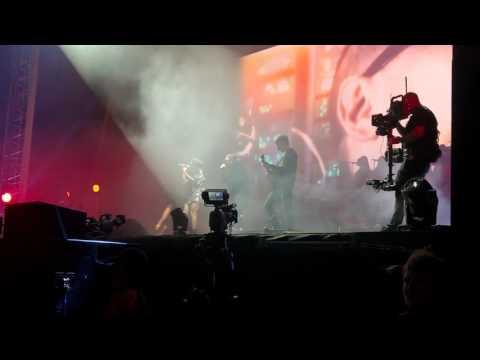Gorillaz - Dare ft Shaun Ryder LIVE Demon Dayz Margate June 2017